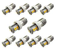 10pcs e10 7smd 2835 для света светильника двери автомобиля светлый белый / белый (dc12v)