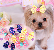 Dog Hair Accessories Dog Clothes Cute Casual/Daily Bowknot Blushing Pink Yellow Dark Blue