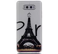 Für lg g6 v20 glühen in der dunklen matt Fall Fall Deckel Fall Eiffelturm weichen tpu Fall lg x Bildschirm k5 k7 k8 k10 g5