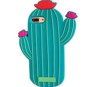 Для apple iphone 7 7 плюс 6s 6 плюс чехол для крышки кактуса силиконовый чехол для мобильного телефона