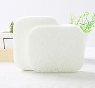 Natural Wood Pulp Fiber Pure Color Round Beauty Exfoliating Scrub Clean Face Powder Puff