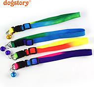 Fashion Rainbow Nylon Pet Dog Collar Cute Bells For Dog Cat Collars Pet Product Christmas Accessories