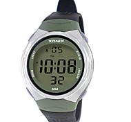 Men's Sport Watch Digital Water Resistant / Water Proof Noctilucent Rubber Band Green