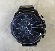 JUBAOLI Da uomo Orologio alla moda Creativo unico orologio Cinese Quarzo Calendario Quadrante grande Acciaio inossidabile Banda Fantastico