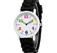 XU Neutral Quartz Silicone Watch
