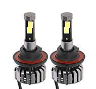 Kkmoon paire de h13 cc 12v 40w 4000lm 6000k led phare kit lampe ampoules