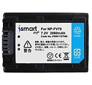 Ismartdigi FV70 7.2V 2060mAh Camera Battery for Sony HDR-PJ670 820 610 CX900 AX100E