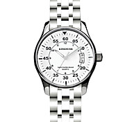 Men's Dress Watch Quartz Stainless Steel Band Silver