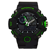 Men's Sport Watch Digital Watch Quartz Rubber Band Black