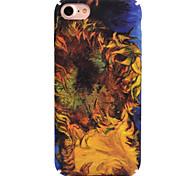 Для яблока iphone 7 7 плюс 6s 6 плюс чехол для крышки подсолнуха шаблон деколь для ухода за кожей touch pc material phone case