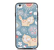 Для apple iphone 7 7 плюс iphone 6s 6 плюс чехол для крышки кошачий узор 3d рельеф пластиковый корпус корпуса корпуса tpu