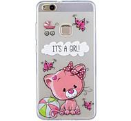 Para huawei p10 lite p10 cubierta del caso patrón de oso pintado de alta penetración tpu material imd proceso suave caja del teléfono caso