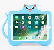 Per ipad ip 9.7 '' ipad air 2 shockproof con custodia posteriore del modello di stand modello gatto 3d silicone morbido del fumetto