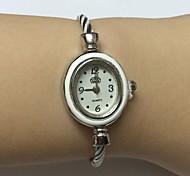 Women's Ladies' Fashion Watch Wrist watch Chinese Quartz Alloy Band Bangle Casual Silver