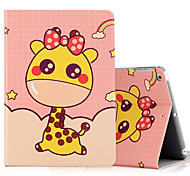 Per ipad ipad (2017) ipad air 2 custodia in pelle ipad shockproof con stelo modello flip modello pieno corpo cassa animale animale hard pu