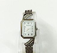 Women's Ladies' Fashion Watch Bracelet Watch Quartz Alloy Band Vintage Casual Silver