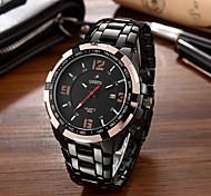 Homens Relógio de Moda Único Criativo relógio Relógio Casual Relógio de Pulso Quartzo Calendário Mostrador Grande Aço Inoxidável Banda