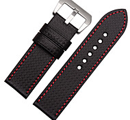 For  Garmin Fenix 3  ZETHYDUM Watch Band Strap Solid color Leather Sport Band
