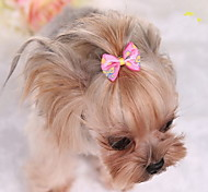 Dog Hair Accessories Dog Clothes Cute Bowknot Blushing Pink Blue Fuchsia