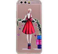 Для huawei p10 p10 lite телефон случай красный юбка девушка образец мягкий материал для телефона tpu телефон p10 plus p8 lite (2017)