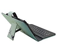 Caso de ipad com teclado usb versão inglesa 9-10 polegadas universal palavra / frase cor gradiente caso de couro pu para ipad pro 10.5