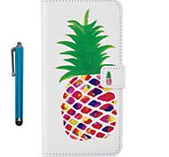 Pour casse couverture carrosserie complète avec stylet fruit pu pu cuir pour apple ipod touch 5 touch 6