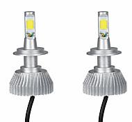 Kkmoon одна пара 30w h7 cob led light фара противотуманная фара 12v 24v автомобильная лампа комплект луча 6000k белый