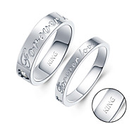 Engraved Lovers Rings ladies gifts fashion personality student rings simple personality ornaments