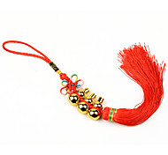 Bag / Phone /  Keychain Charms Chinese Knot Gourd Tassels  Copper