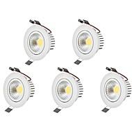 LED даунлайт Тёплый белый Холодный белый Светодиодная лампа Лампа входит в комплект 5 шт.