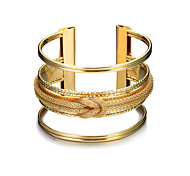 Lucky Doll Women's Cuff Bracelet Fashion Punk Alloy Geometric Jewelry For Birthday Gift Valentine Christmas Gifts