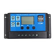 24v 12v автоматический солнечный батарея контроллер заряда батареи 30a pwm lcd дисплей солнечный коллекторный регулятор с двойным выходом