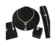 Жен. Набор украшений Ожерелье / серьги Свадебные комплекты ювелирных изделий Круглый дизайн Геометрический Цветочный принт бижутерия