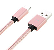 USB 2.0 Cable, USB 2.0 to USB 2.0 Type C Cable Male - Male 1.0m(3Ft)