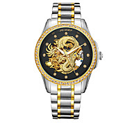 Men's Fashion Watch Japanese Automatic self-winding Water Resistant / Water Proof Hollow Engraving NoctilucentStainless Steel 24K Gold