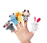 10шт набор мультфильм животных плюшевые пальцы марионетки дети говорят prop детей лесной пользы куклы