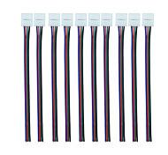 Rgb 4-контактный 10-миллиметровый светодиодный разъем с гибким зажимом для гибких лент (10 шт.) Для пайки без пайки на адаптере для