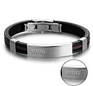 Korean fashion jewelry titanium Silicone Bracelet Mens Bracelet silicone bracelet
