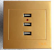 Type 86 USB*3 Power Outlet  Golden