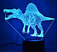 Christmas Dinosaur Touch Dimming 3D LED Night Light 7Colorful Decoration Atmosphere Lamp Novelty Lighting Christmas Light
