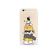 Назначение iPhone X iPhone 8 Чехлы панели Прозрачный С узором Задняя крышка Кейс для Кот Мягкий Термопластик для Apple iPhone X iPhone 8