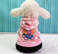 Dog Hoodie Dog Clothes Keep Warm Cartoon