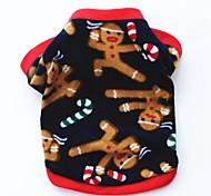 Кошка Собака Плащи Футболка Толстовка Одежда для собак Для вечеринки На каждый день Сохраняет тепло Северный олень Темно-синий Коричневый