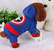 Собака Костюмы Одежда для собак Косплей Сохраняет тепло Американский / США