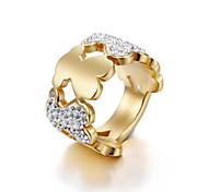 Women's Ring Movie Jewelry Euramerican Fashion Personalized Hypoallergenic Adorable British Rhinestone Titanium Steel Gold Plated Jewelry