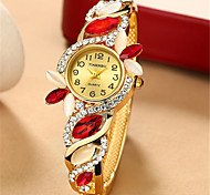 Women's Fashion Watch Wrist watch Quartz Alloy Band Blue Brown