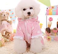 Dog Hoodie Dog Clothes Keep Warm Lace