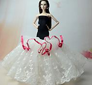 Платья Платье Для Кукла Барби Платье Для Девичий игрушки куклы