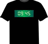 LED-футболка 100% хлопок Новинки 4 батарей AAA