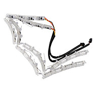 2pcs Double Color Crystal Eyes LED Daytime Running Light DRL Turn Signals External Lights Waterproof Flexible DC12V